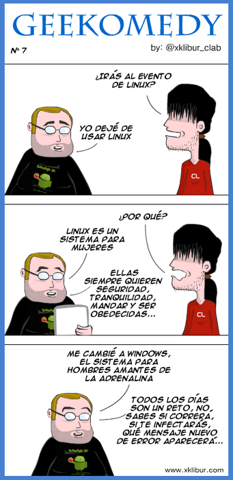 Linux es para mujeres (humor)